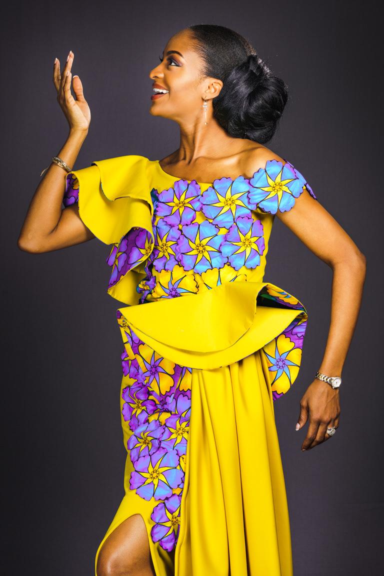 portrait with yellow dress