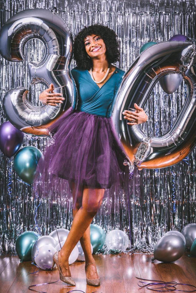 30th birthday party photo shoot