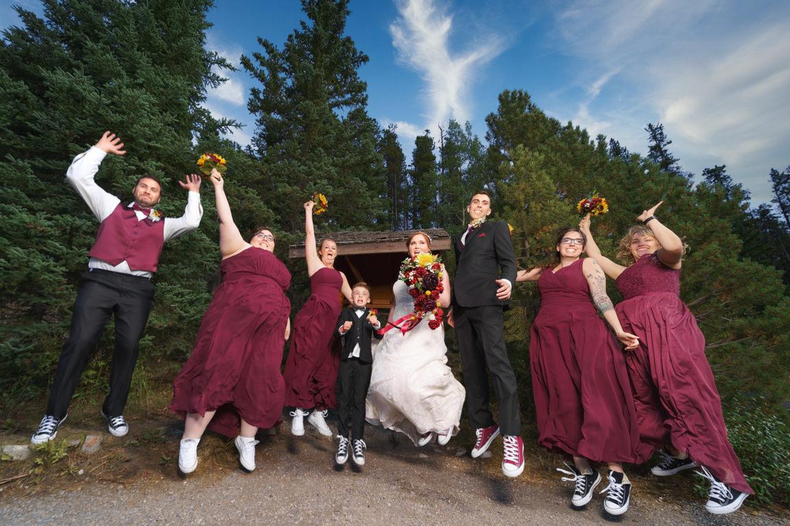 wedding party at o' shaughnessy falls
